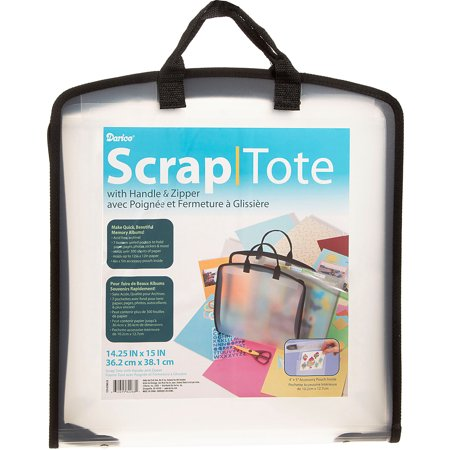 Plastic Scrap Tote W/Pockets-