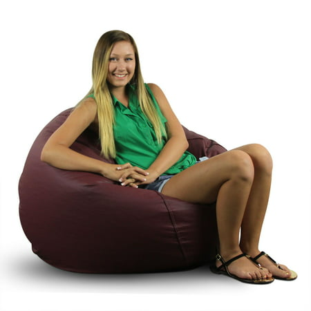 Classic Large Bean Bag-Vinyl Color:Burgundy