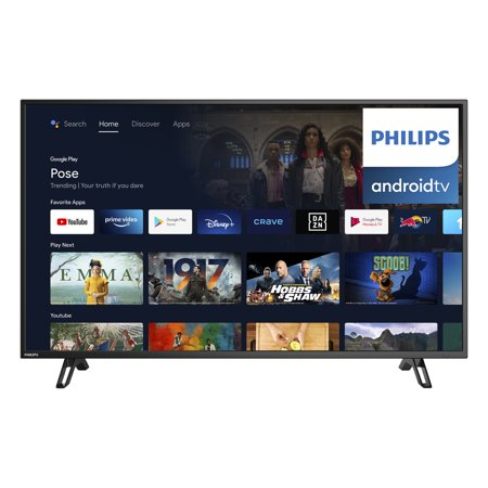 """Philips 43"""" Class 4K Ultra HD (2160p) Android Smart LED TV with Google Assistant (43PFL5766/F6)"""