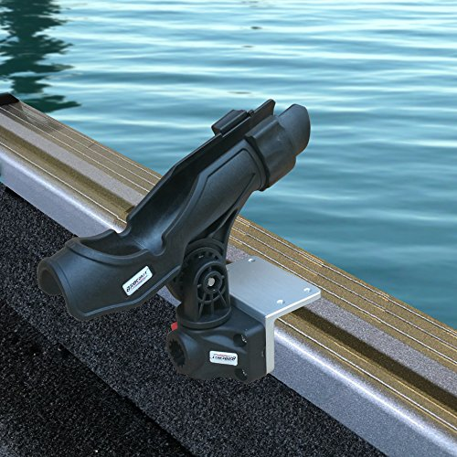 Click here to buy BroCraft Alumacraft Boats AlumaTrac mounting system Fish Rod Holder.