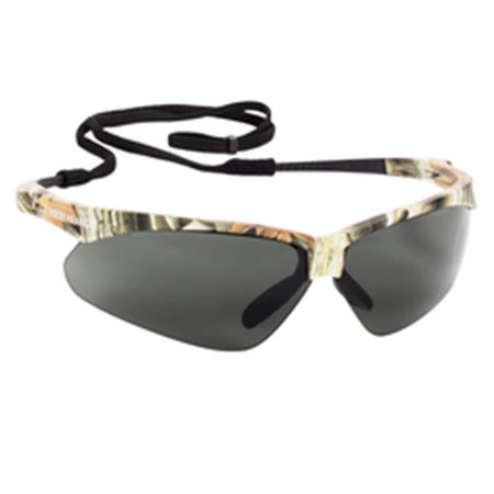 jackson safety 138-47417 nemesis polarized safety glasses, polarized smoke lenses, camo frame