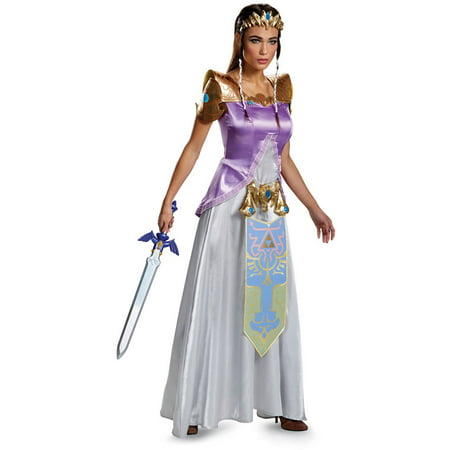 Legend of Zelda Princess Zelda Deluxe Women's Adult Halloween Costume - Zelda Halloween Costume Link