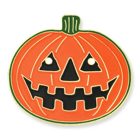 Halloween Stick Pins (PinMart's Halloween Pumpkin Jack-O'-Lantern Holiday  Lapel Pin)