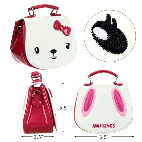 44cf6c60d4d2 Ava   Kings - Ava   Kings Girls Purse Glossy PU Leather Animal ...