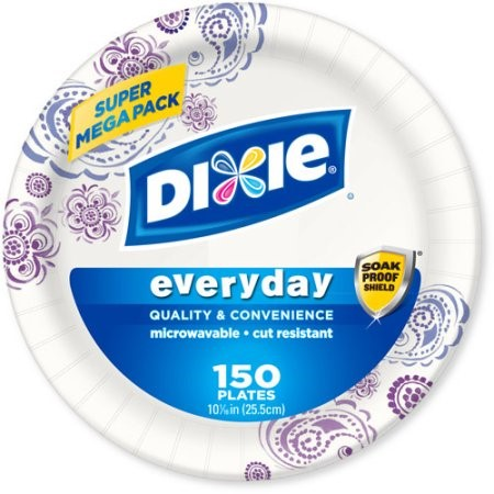 "Dixie Everyday Paper Plates, 10.0625"", 150 Ct"