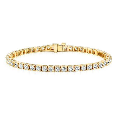 Auriya  14K Gold 1 3 4Ct Tdw Diamond Tennis Bracelet