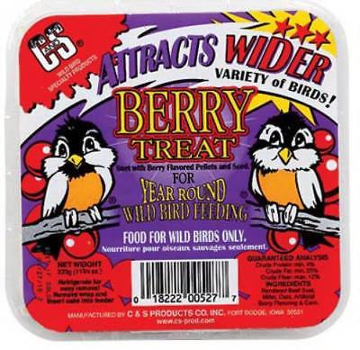 11.75 OZ Berry Treat Suet Cake Mixture Of Rendered Beef Suet Only One by