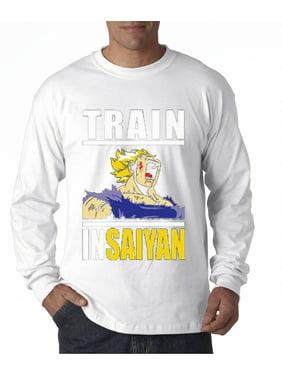 T-shirts Train Insaiyan T Shirt Dbz Super Saiyan Gym Lift Exercise Dragon Ball Z Cartoon T Shirt Men Unisex New Fashion Tshirt