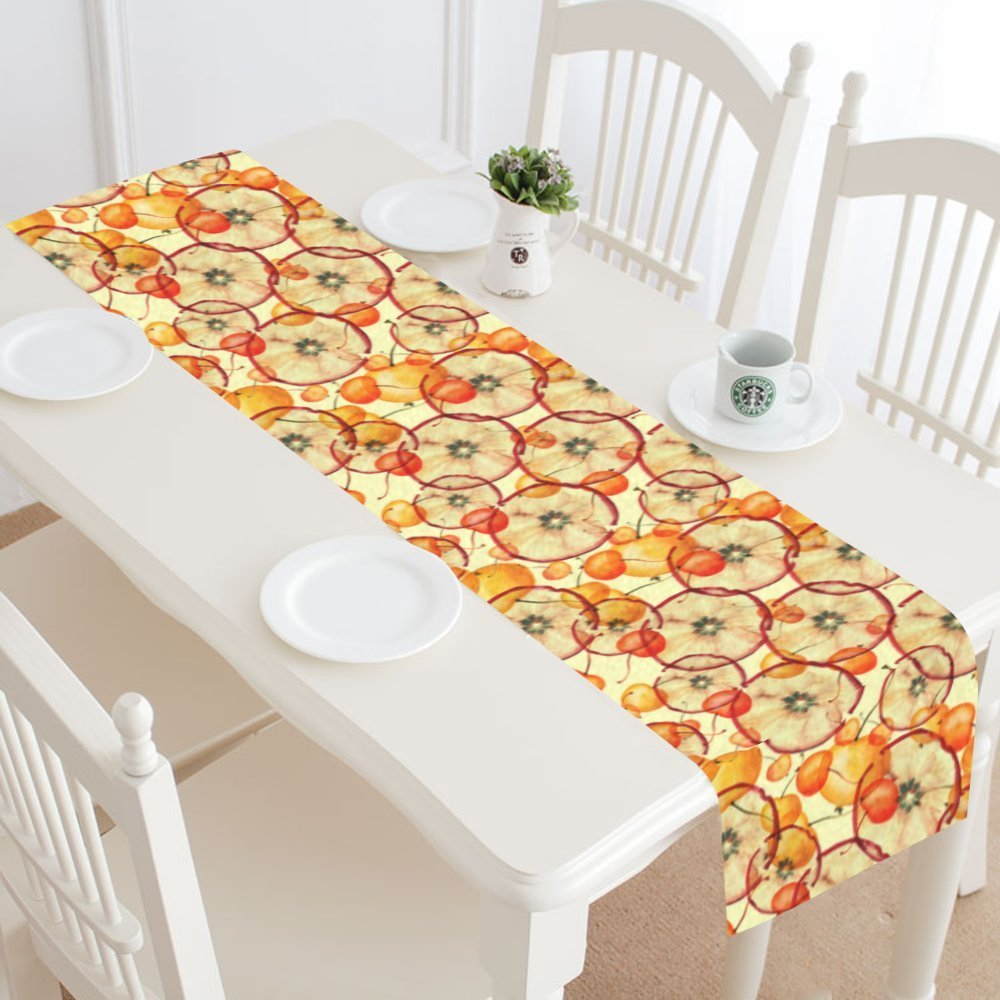 MYPOP Slice Of Apple Pattern Table Runner Home Decor 14x72 Inch,Fruit Apple  Table Cloth