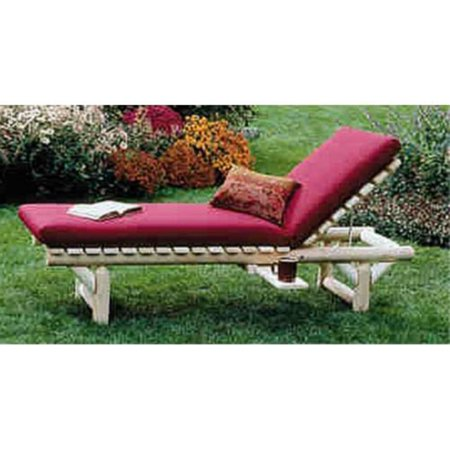 Rustic Natural Cedar Furniture Log Lounge Chair with Beverage Holder