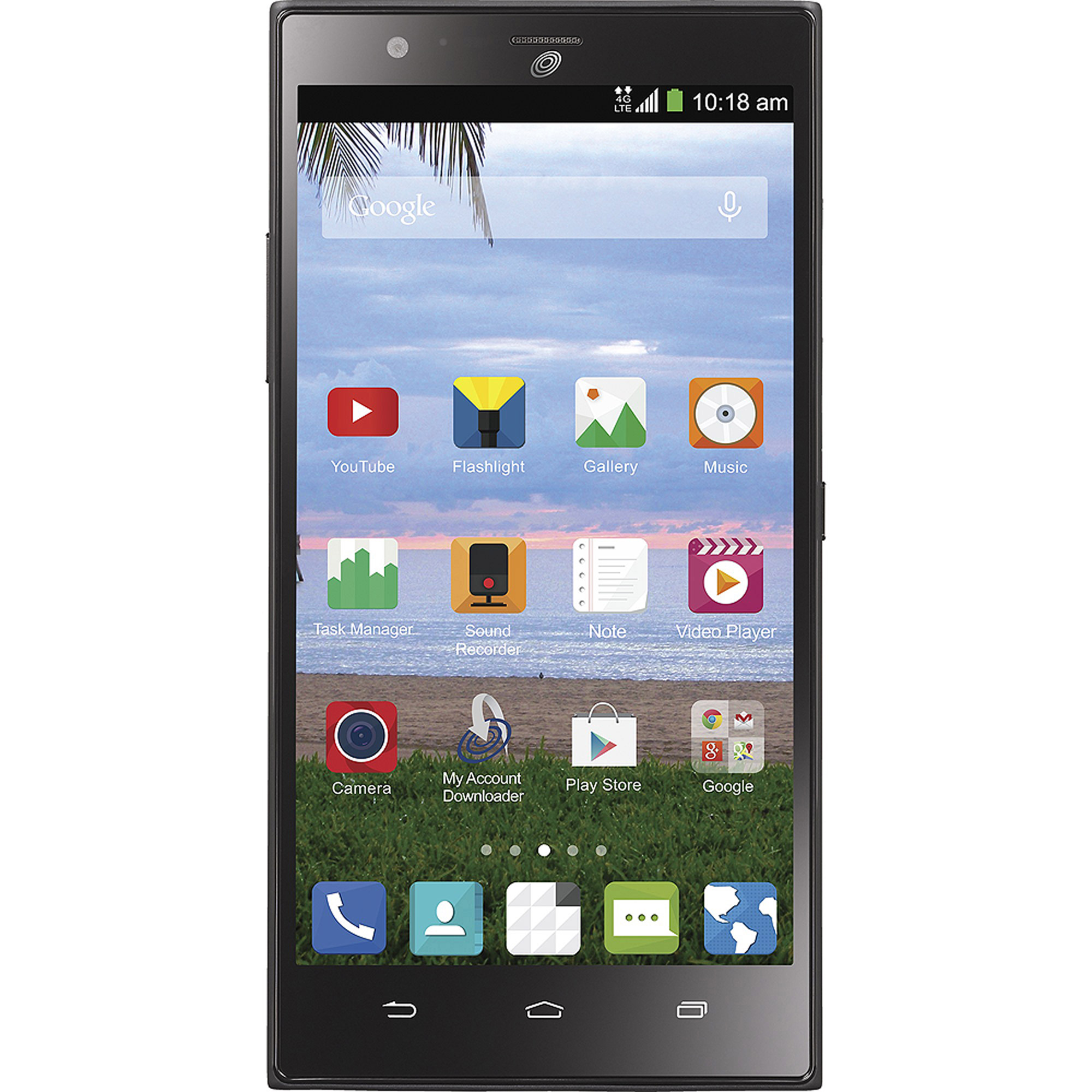 Straight Talk ZTE Lever Android Prepaid Smartphone