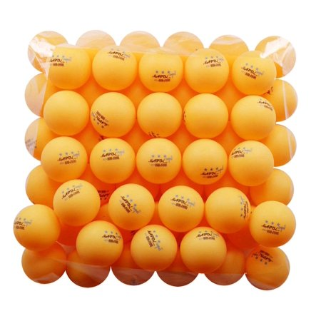 KEVENZ 50-Pack 3-Star Plus 40mm Orange Table Tennis Balls, Advanced Training Ping Pong Balls - Halloween Eyeball Ping Pong Balls