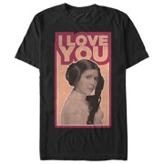 Star Wars Men's Princess Leia Quote I Love You T-Shirt