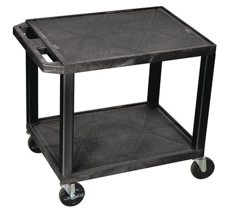 Utility Cart,300 lb. Cap.,Resin,2 Shlvs ZORO SELECT WT26E
