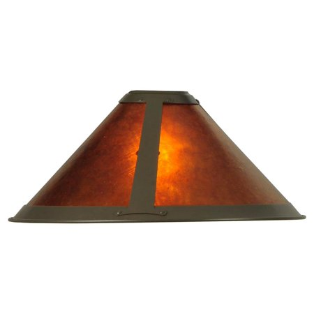 Van Erp Amber Mica Torchiere Replacement (Round Mica Shade)