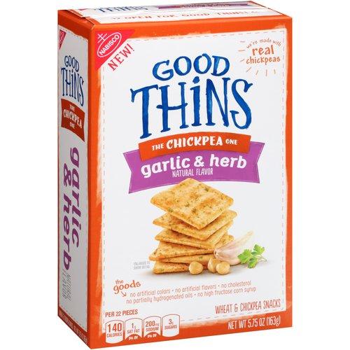 Nabisco Good Thins Garlic & Herb Chickpea Snacks, 5.75 Oz.