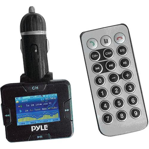 PYLE PLMP3C31B Wireless USB/SD(TM) Card FM Modulator/Transmitter with Bluetooth(R) Hands-Free Kit