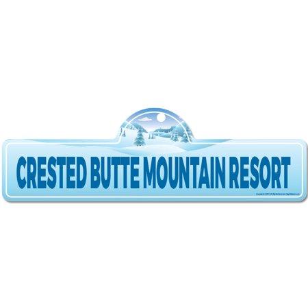 Crested Butte Mountain Resort Street Sign | Décor for Ski Lodge, Cabin Crested Butte Ski