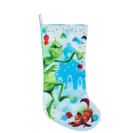 Dr Seuss Grinch Stocking Christmas Mantel Decoration Gift - Christmas Mantel Decorations
