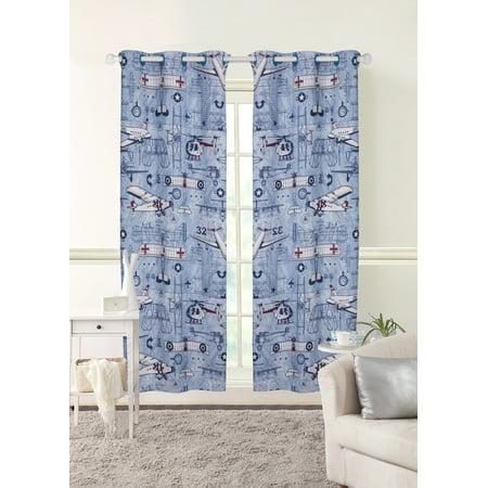 Mainstays Kids Grommet Room Darkening Aviator Single Curtain (Aviator Window Panels)