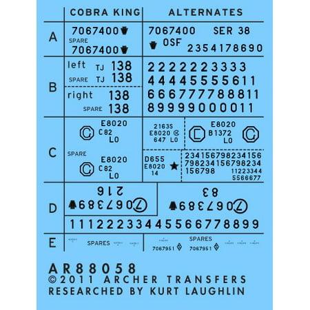 Surface Details: 1/35 M4A3E2 Casting Symbols