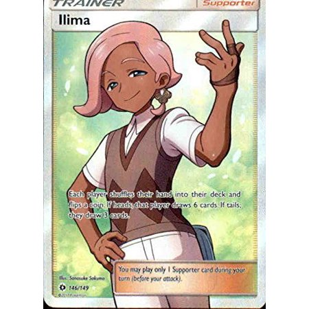 Ilima - 146/149 - Full Art Ultra Rare - Pokemon Sun &