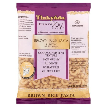(12 Pack) Tinky Pasta Joy Ready Elbow Brown Rice Pasta, 16 -