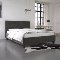 DHP Rose Upholstered Bed, Gray Velvet
