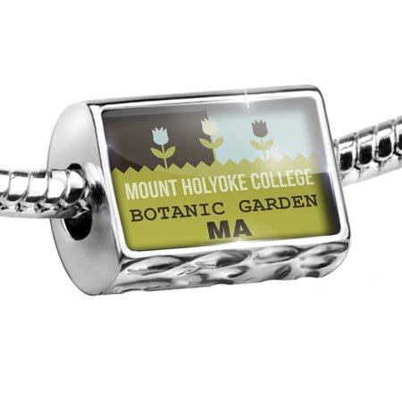 Bead US Gardens Mount Holyoke College Botanic Garden - MA Charm Fits All European Bracelets - Als Bracelet