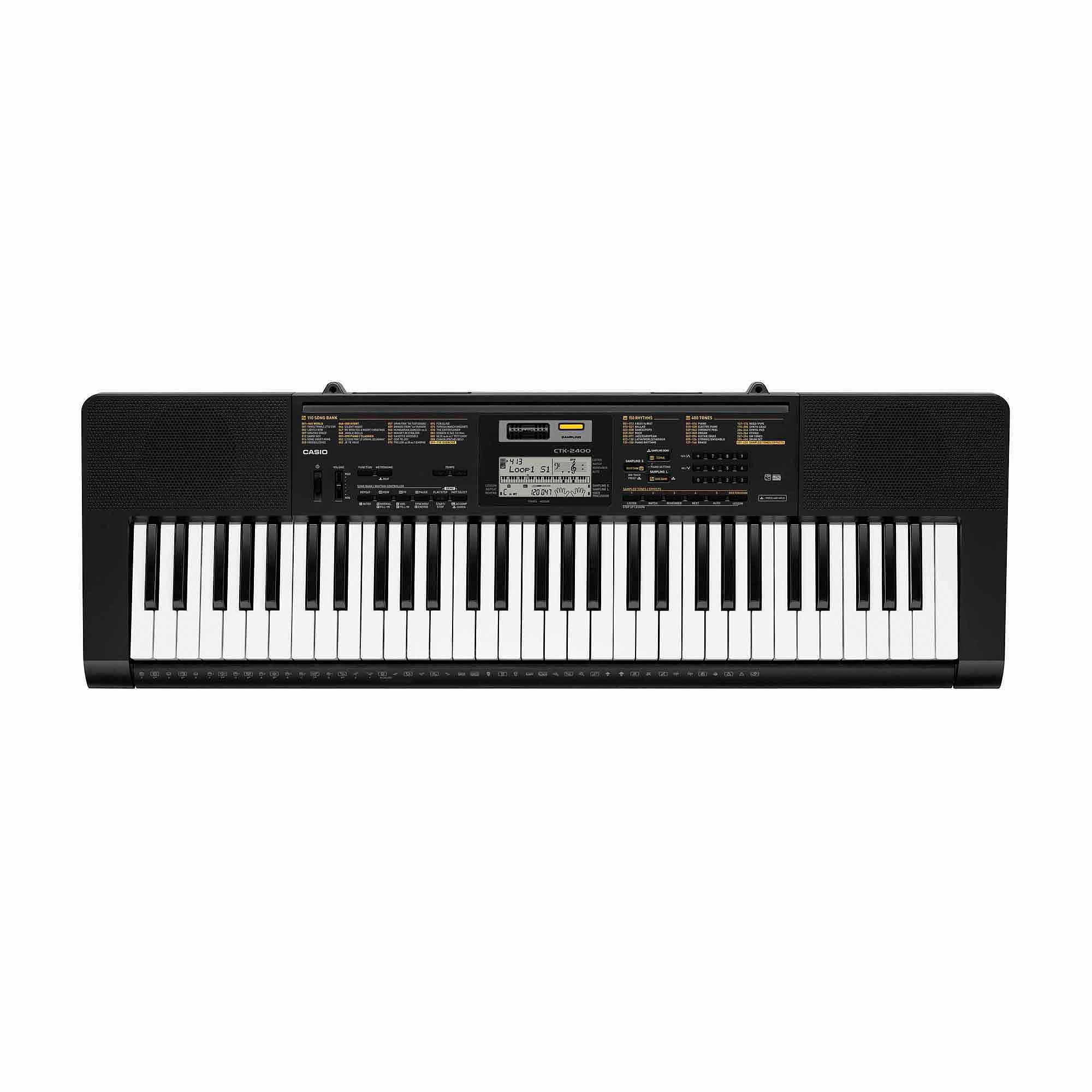 Casio CTK-2400 61-Key Portable Keyboard with Built-In Microphone