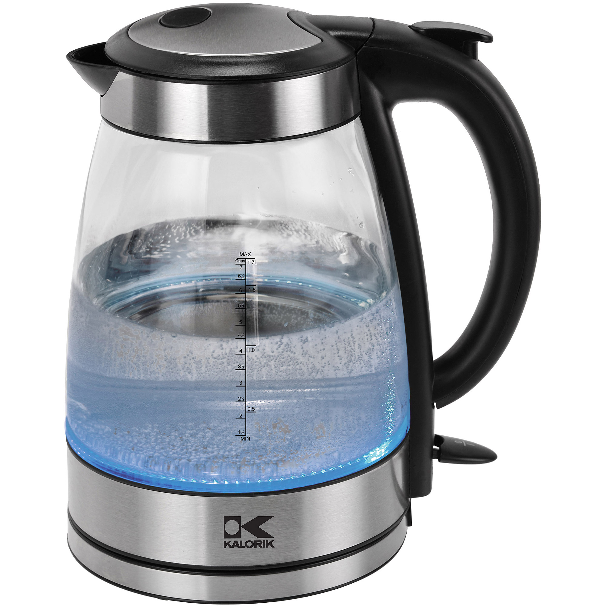 Kalorik Grey and Stainless Steel Glass Water Kettle