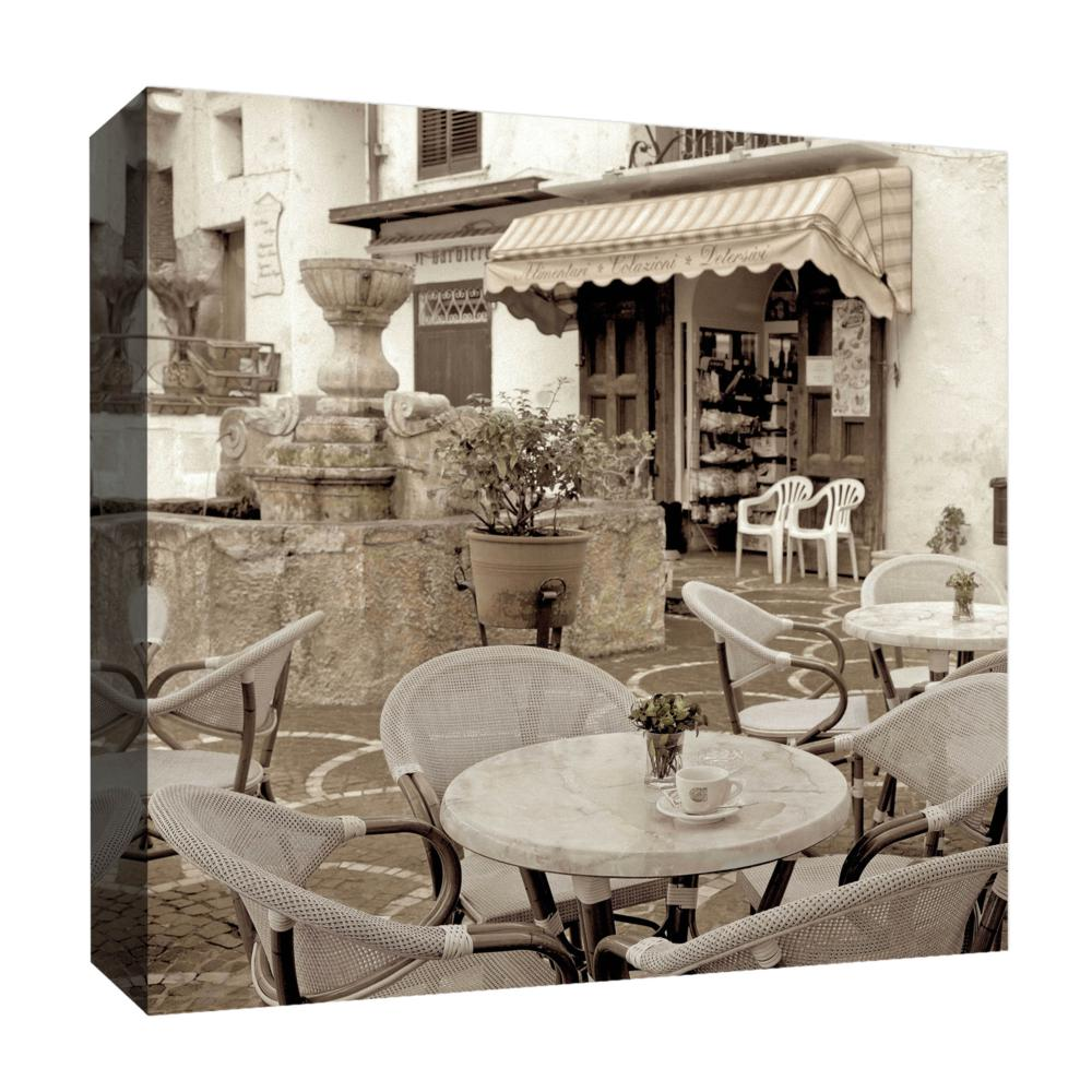 PTM Images,Fountain Coffe, 20x20, Decorative Canvas Wall Art