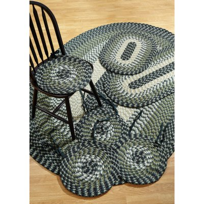 Alpine Braided Rug 7-Piece Set with Room Size Rug and Accessories, Hunter by Pam Overseas LLC