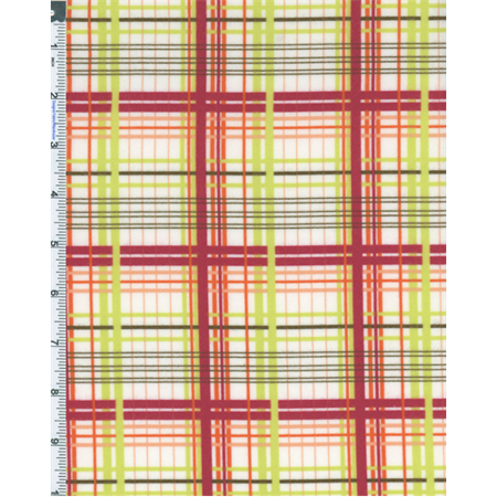 - Cherry Multi Valori Wells Bridgette Lane Plaid Print Flannel, Fabric By the Yard