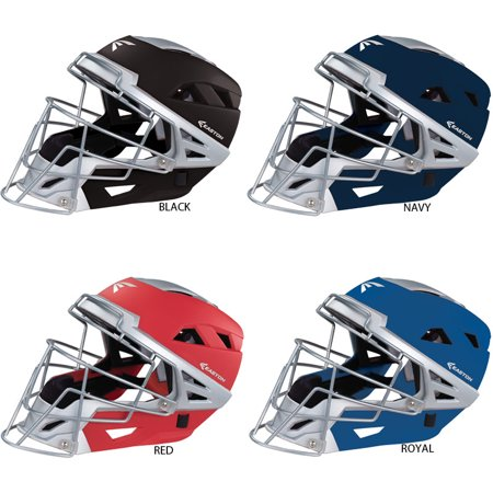 Easton Mako C baseball hockey style catchers helmet face mask NEW Royal S ()