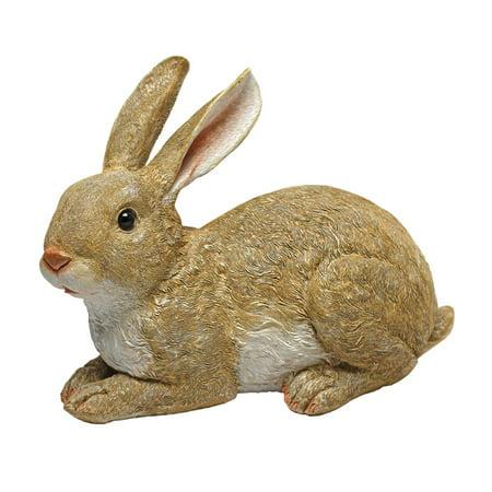 Rabbit Garden Accent (Design Toscano Bashful, the Bunny, Lying Down Garden Rabbit)