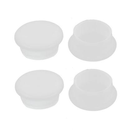 Embout Capuchons en Plastique Rond Blanc 12 mm Dia. Protection de Meubles 4 Pièces - image 1 de 1