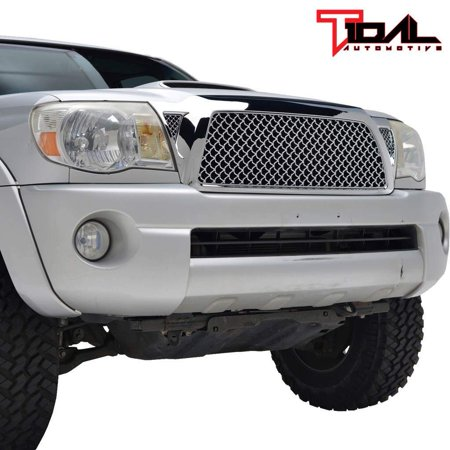 Tidal Tacoma ABS Replacement Grille With Shell for 05-11 Toyota Tacoma - Chrome Abs Grille Shell