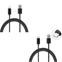 6ft and 10ft USB Cable Charger Power Cord Type-C Wires X3Q for Samsung Galaxy S10e S10 Plus S8 active 5G Note 9 8 A9 A50 - Sonim XP3 - Sony Xperia XZs XZ3 XZ1 XA1 L1 - Xiaomi Mi Mix 2 9