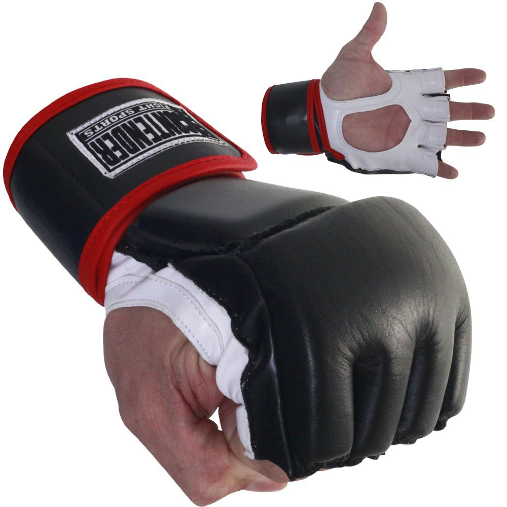 Top Contender Fight Sports MMA Grappling Gloves - Black/White