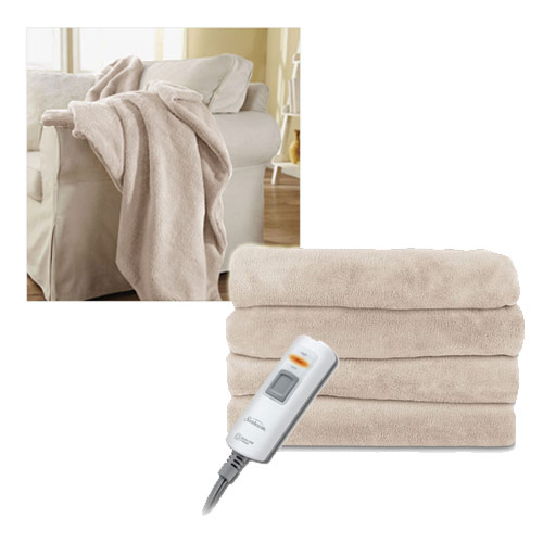 Sunbeam LoftTec Ultra-Soft Heated Electric Throw Blanket DC-11 Assorted Colors