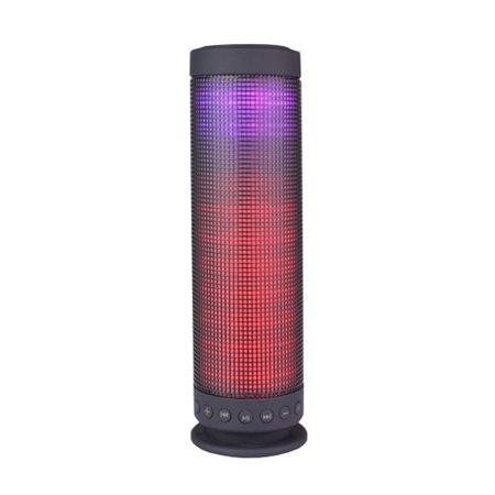 Portable Color LED Visual Wireless Bluetooth Speaker 3.5mm input & MicrosSD Slot (Bluetooth Speaker For Laptop)