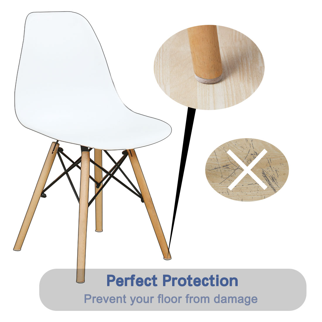 """Furniture Pads Round 1 1/4"""" Self-stick for Furniture Floor Chair Protector 30pcs - image 2 of 7"""