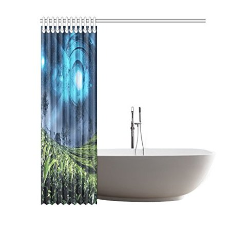 GCKG Astrology Zodiac on the Night Sky Shower Curtain, Horscope Polyester Fabric Shower Curtain Bathroom Sets with Hooks 60x72 Inches - image 1 de 3