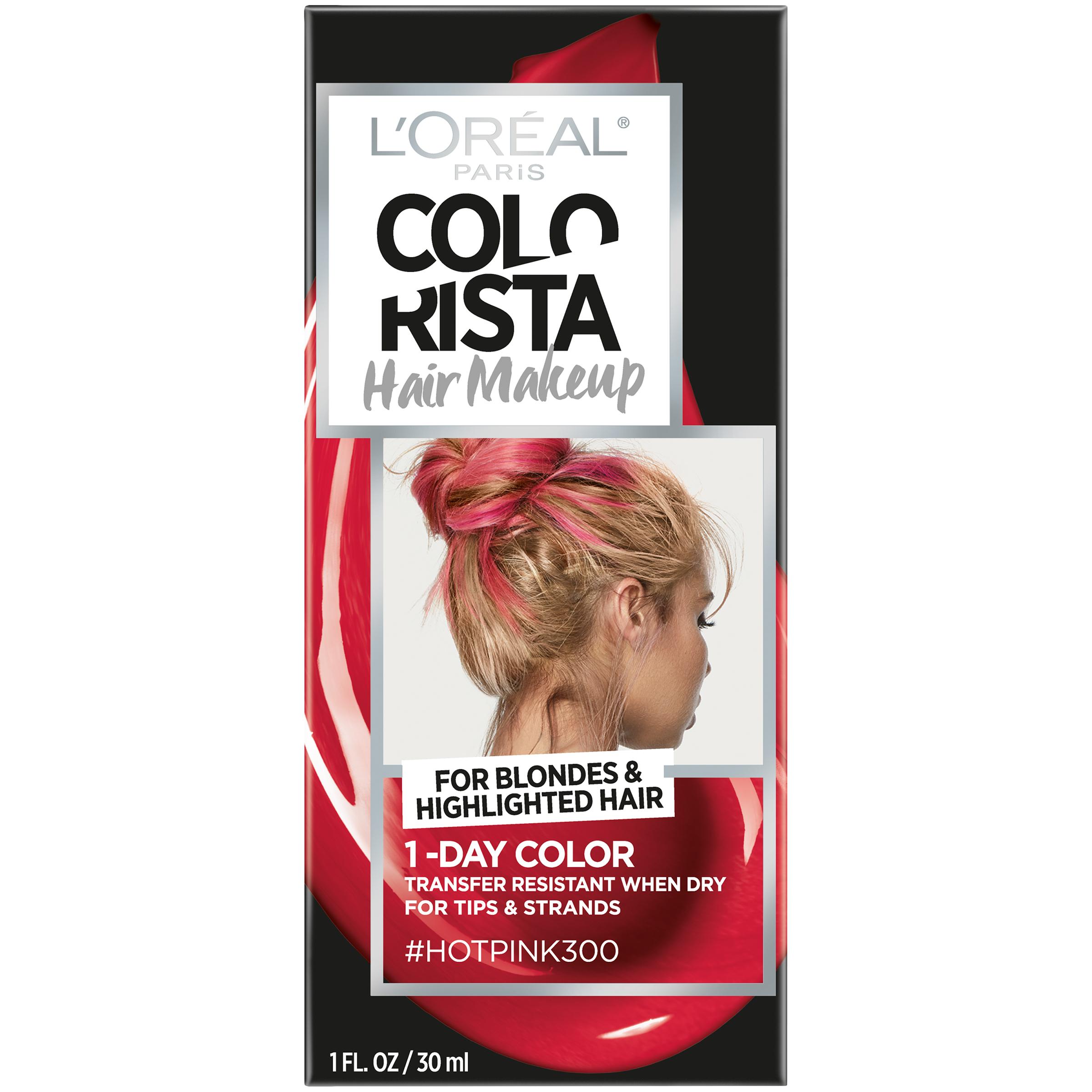 L'Oreal Paris Colorista Hair Makeup 1-Day Hair Color, Green70 (for brunettes), 1 fl. oz.