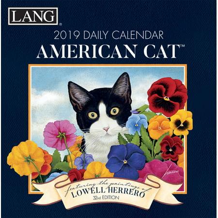 2019 BOX CALENDAR, AMERICAN CAT™ (Cat Desk Calendar)