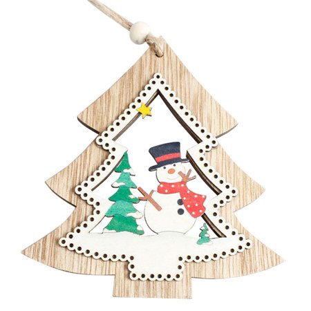 Hot Sale Exquisite Christmas Tree Decoration Wooden Ornament Hanging Pendant Christmas Gifts Xmas Home Festival Decor - Christmas Ornament Sale