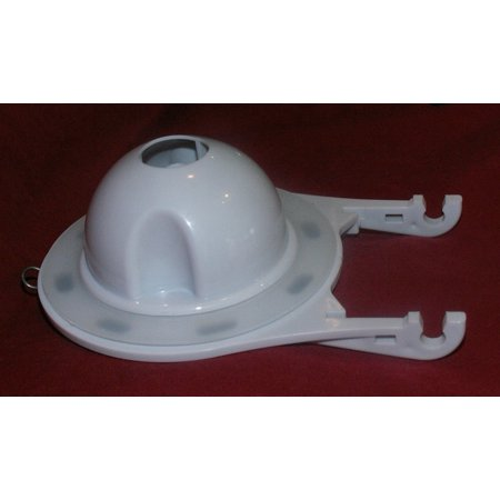 NuFlush 3.5 inch Flapper Assembly  Chemical Resistant Flapper  For one and two piece toilet tanks  White Finish