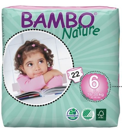Abena Baby Diaper Bambo® Nature Size 6 Disposable Heavy A...