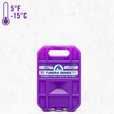 Reusable Ice Pack for Coolers, Lunches, Camping, Fishing, and More, Tundra Series by Arctic Ice, Long-Lasting Small Ice (So Much Cooler With Something In Your Mouth)